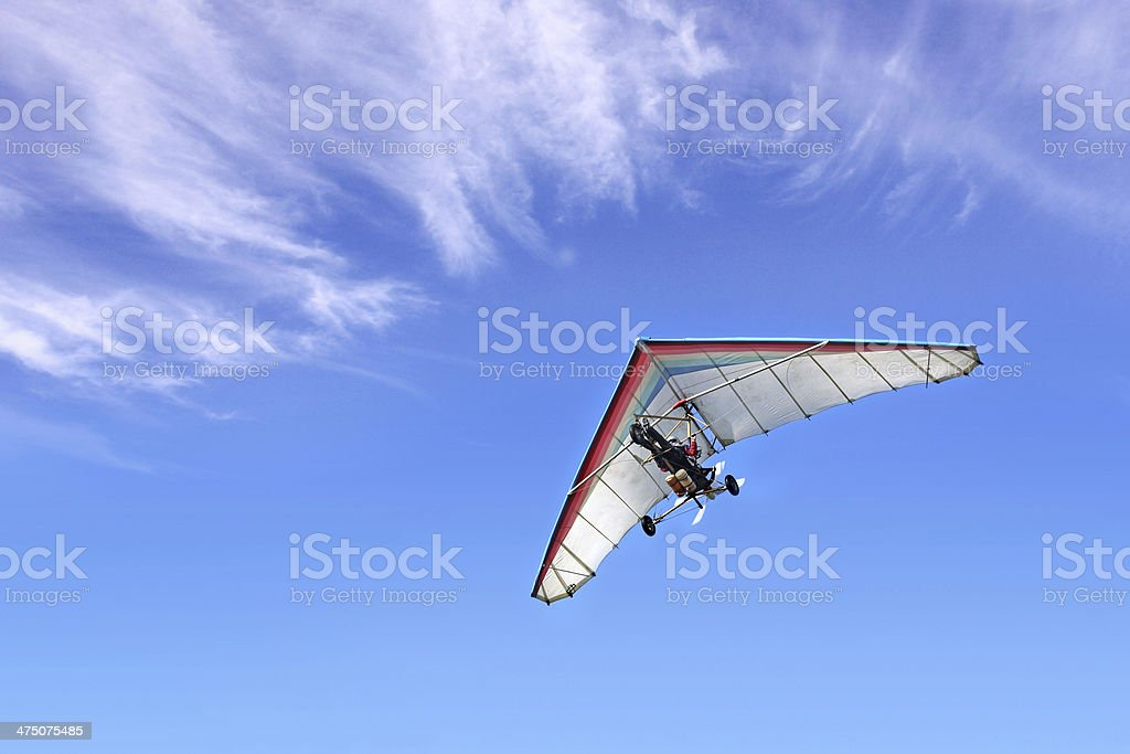 Motorized hang glider royalty-free stock photo