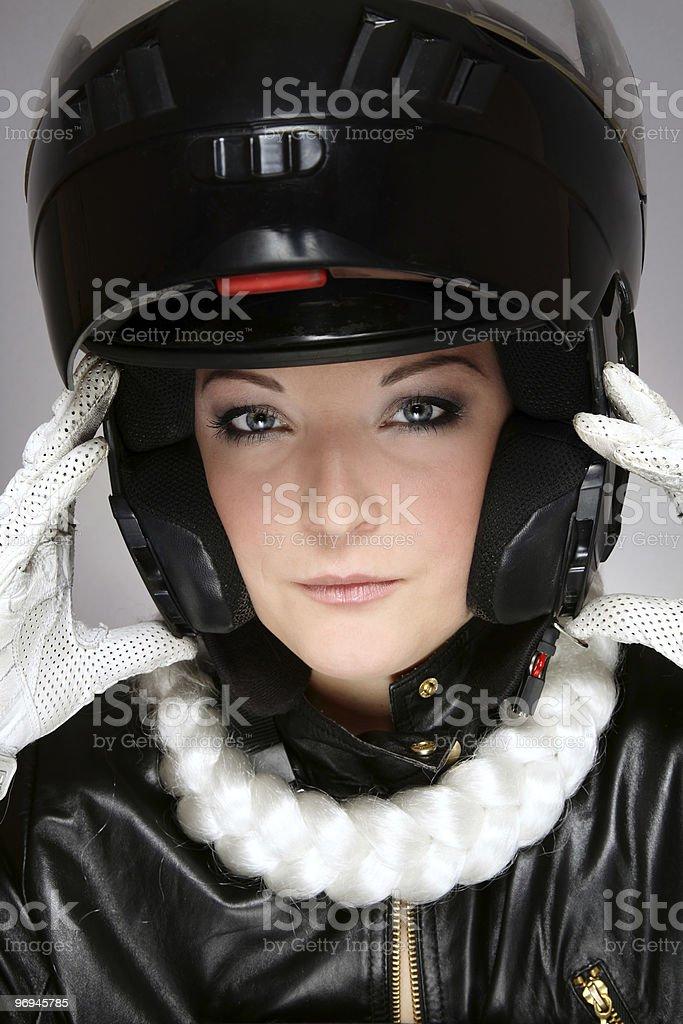 Motor-lady royalty-free stock photo