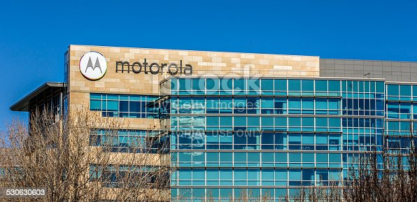 Santa Clara, United States - February 1, 2014:  Motorola headquarters in Silicon Valley. Motorola is a technology and telecommunications company owned by Google.