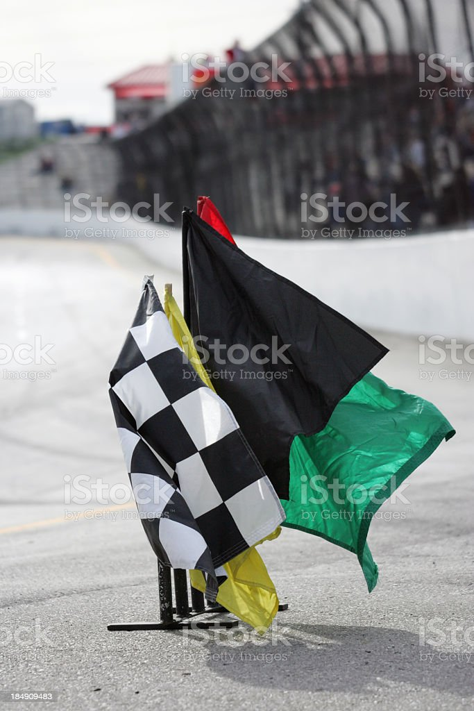 Motorsports flags royalty-free stock photo