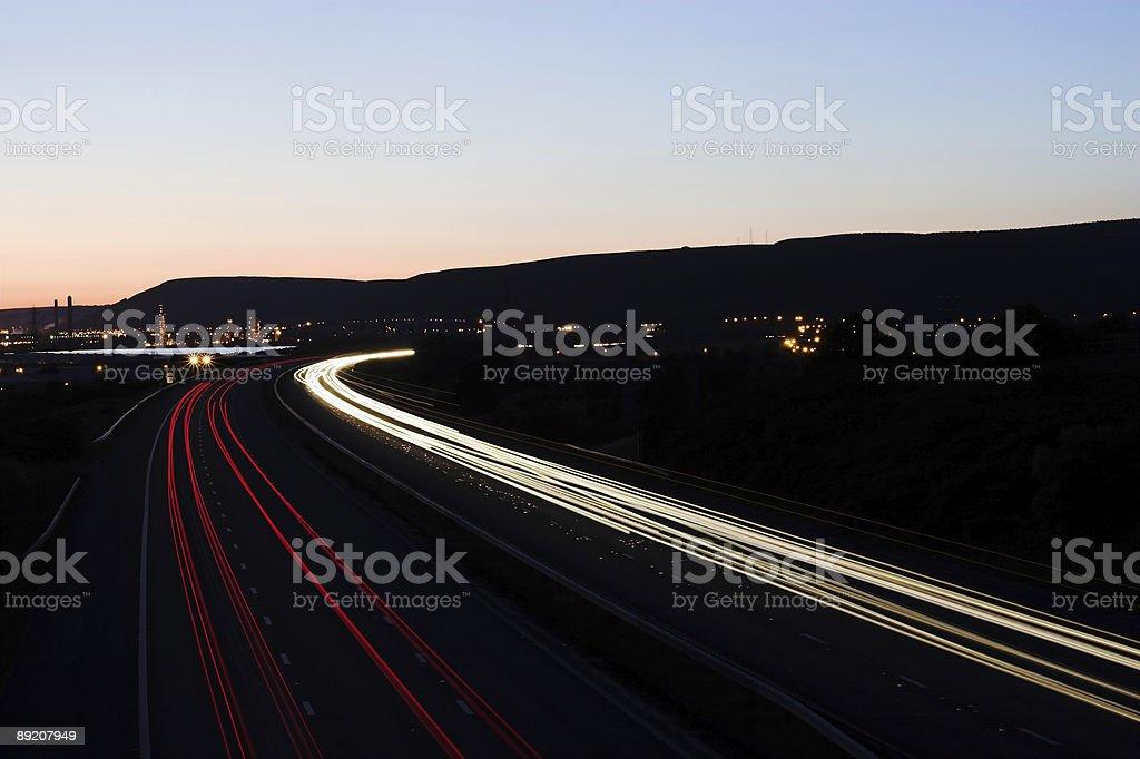 Motorway at night royalty-free stock photo