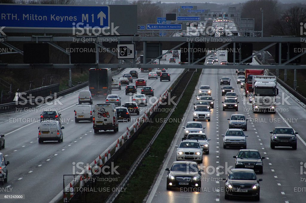 M1 Motorway Bedfordshire England UK stock photo