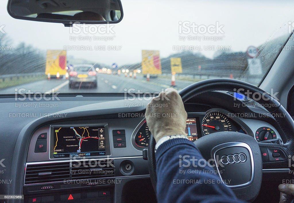 UK Motorway Driving stock photo