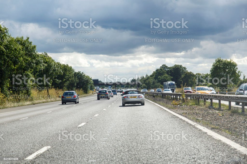 Motorway Driving UK - M4 stock photo