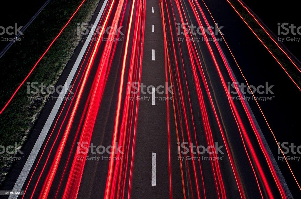 Motorway flow stock photo