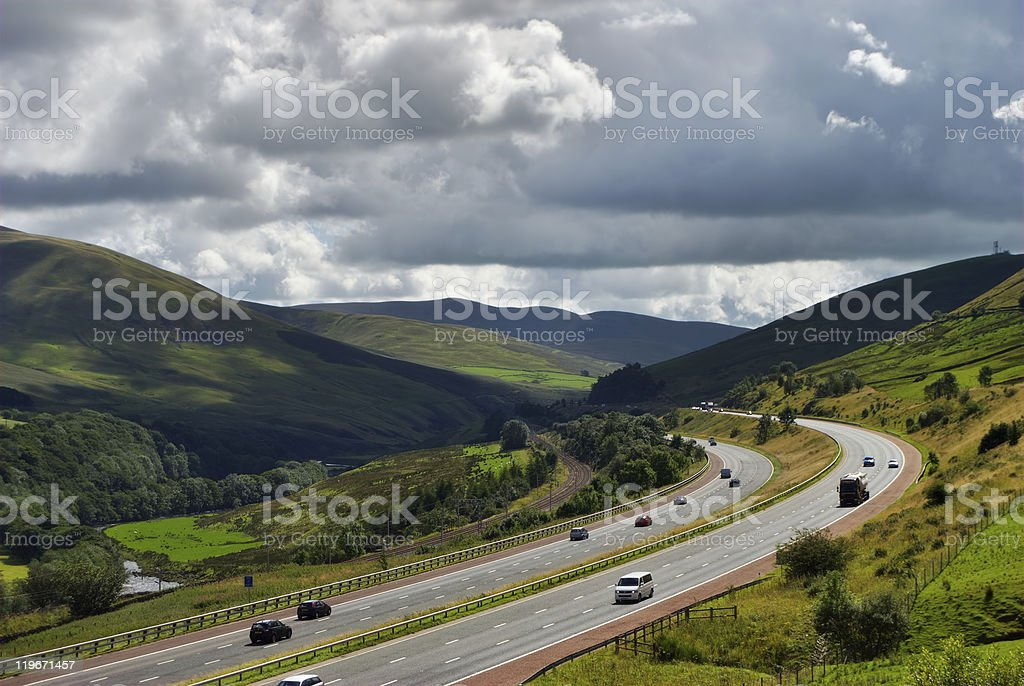 M6 Motorway in Cumbria royalty-free stock photo