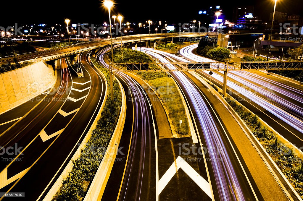 Motorway Junction Traffic stock photo