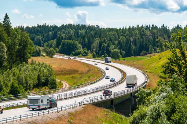 e6 motorway - bohuslän nature bildbanksfoton och bilder