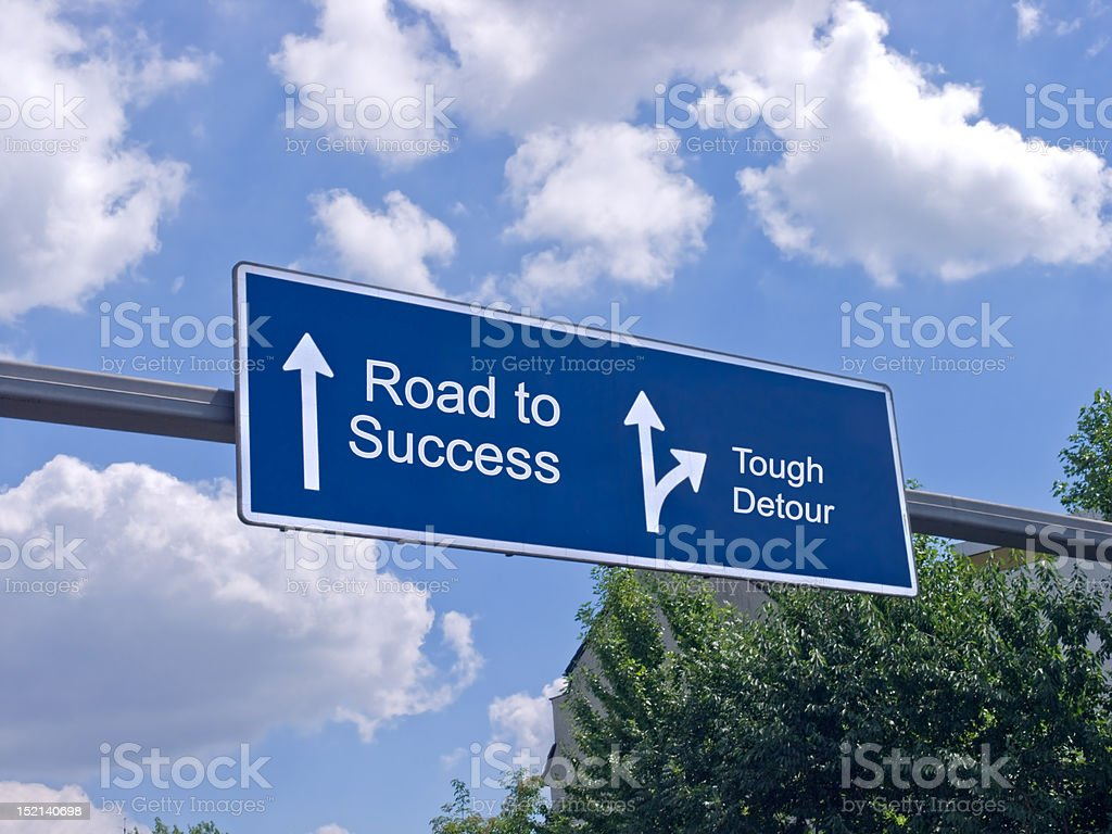 Motorway sign stock photo