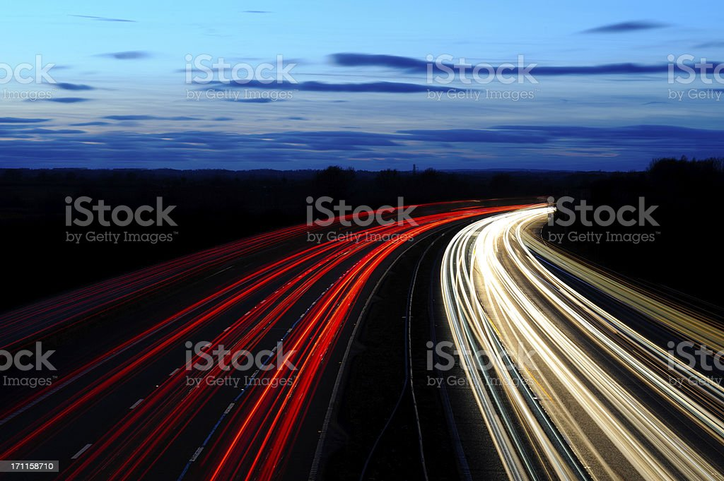 Motorway Sunset stock photo