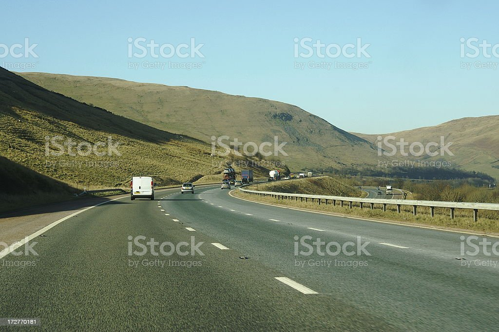 Motorway through the hills royalty-free stock photo