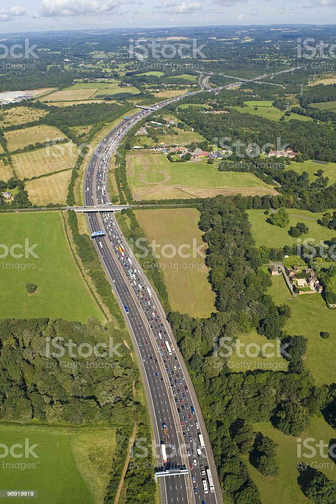 Motorway Traffic Congestion royalty-free stock photo