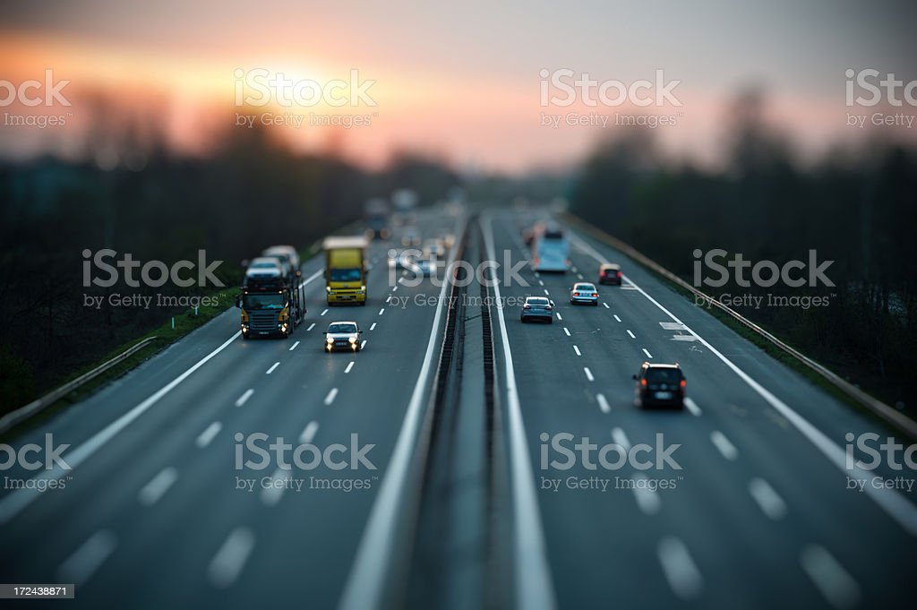 Motorway Traffic royalty-free stock photo