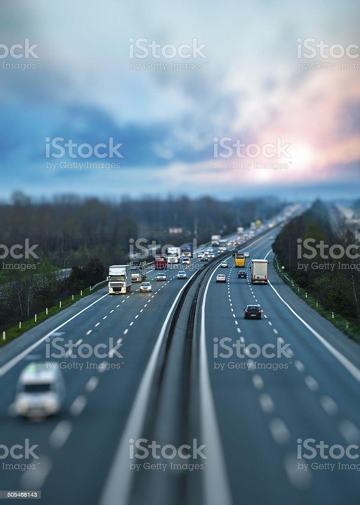Autobahn-Verkehr – Foto