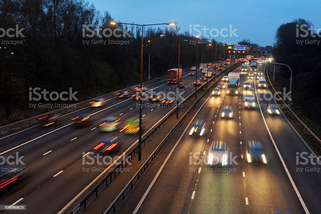 M6 Motorway Traffic stock photo