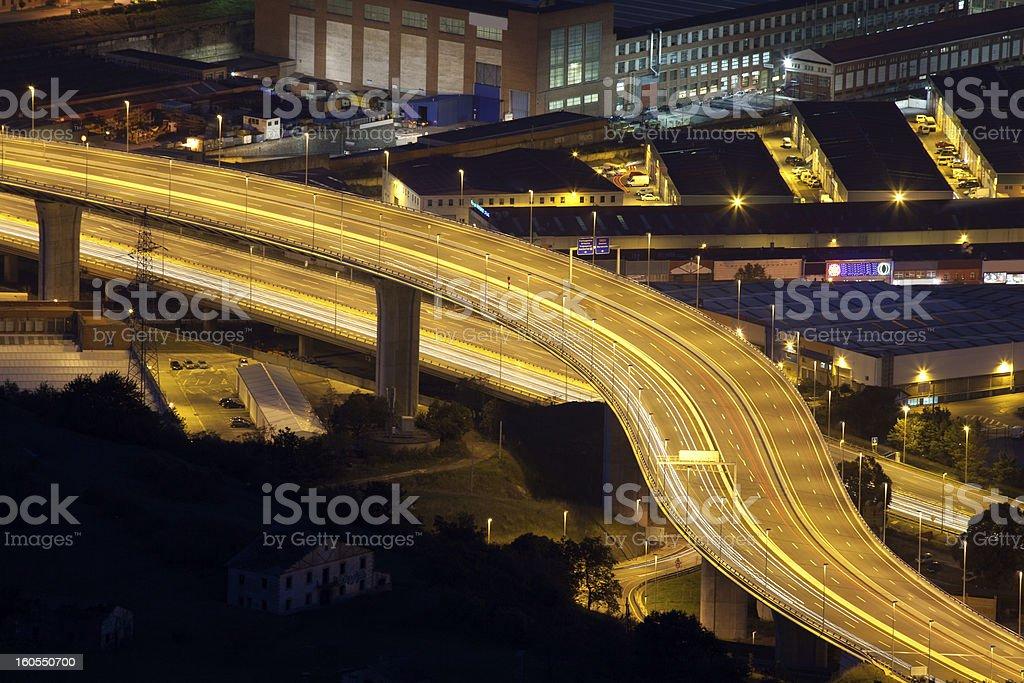 Motorway, Trapaga, Bizkaia royalty-free stock photo