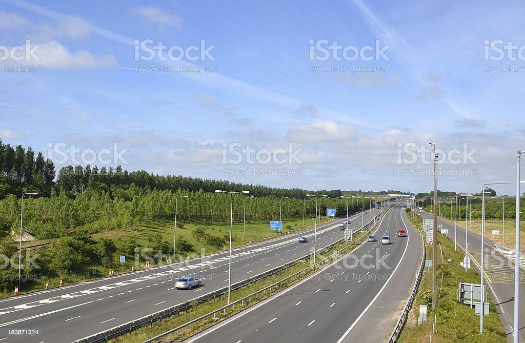 Motorway - UK royalty-free stock photo