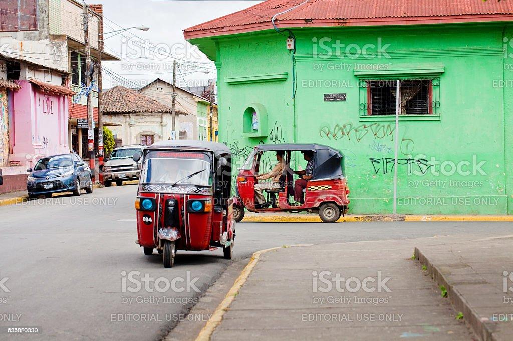 Mototaxis in Nicaragua stock photo