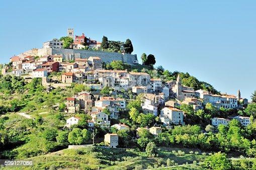 istock Motovun (Montona) Panorama, Istria, Croatia 599127086