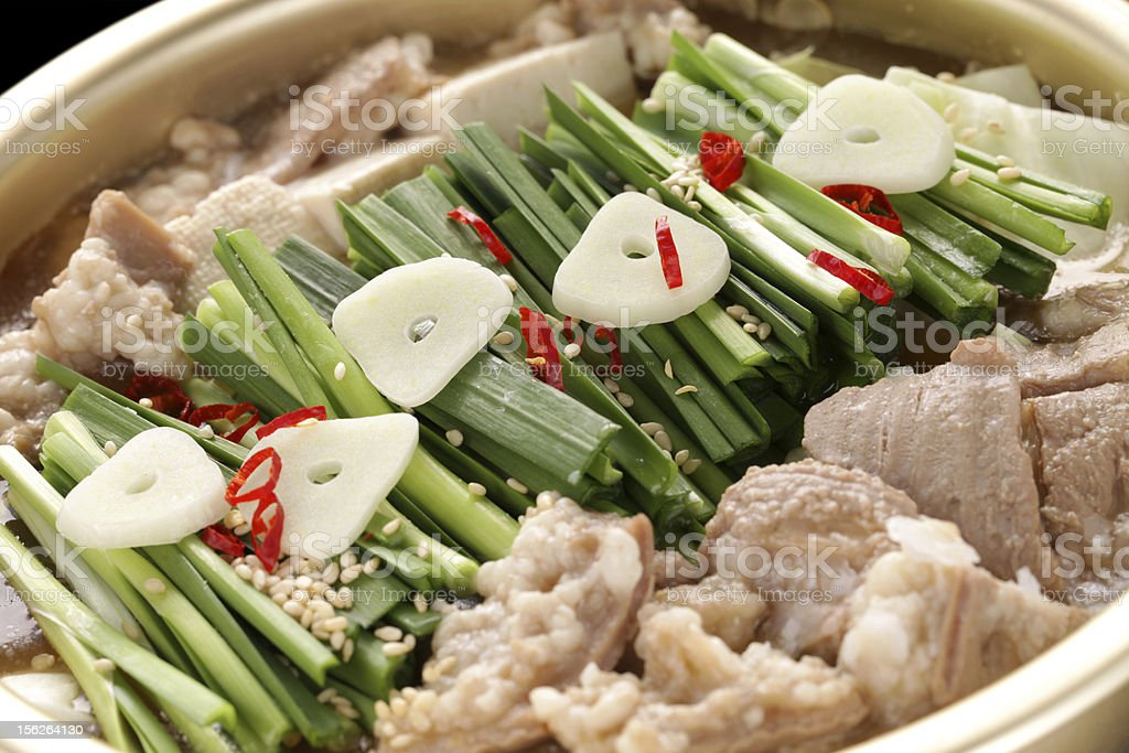 motsunabe, japanese cuisine royalty-free stock photo