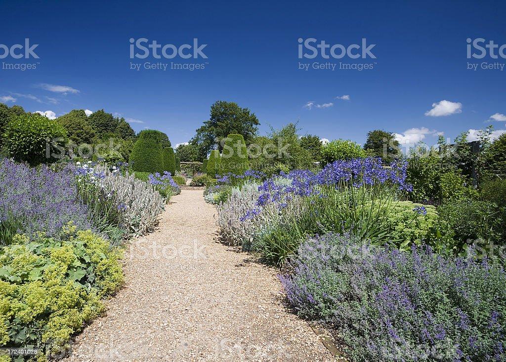 Mottisfont Abbey Garden stock photo