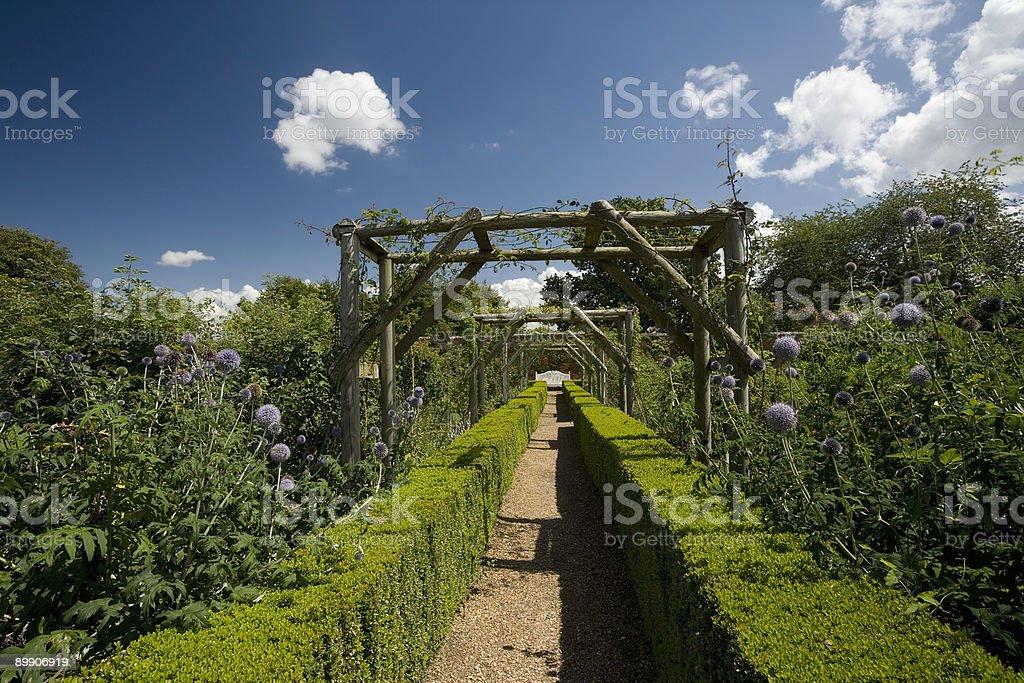 Mottisfont Garden Path stock photo
