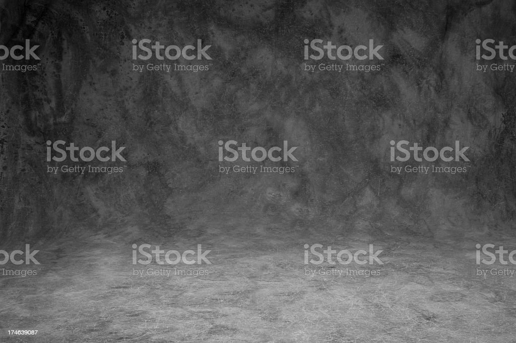 Mottled gray studio background sweep-full frame stock photo