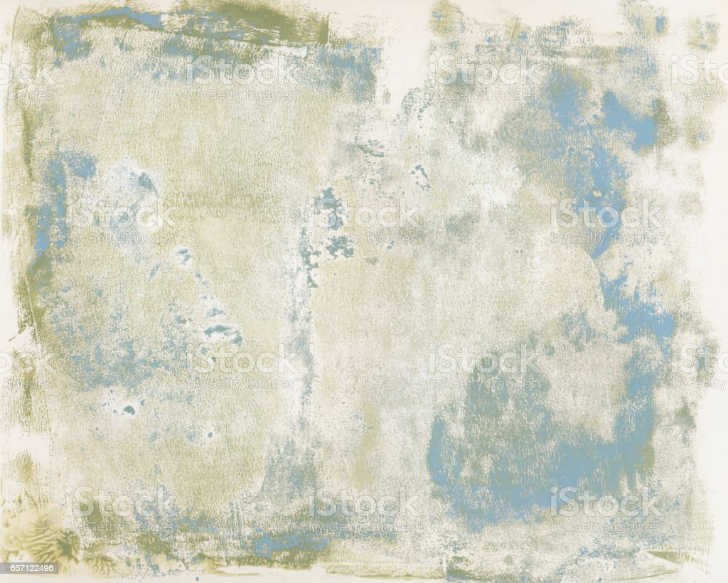 Mottled grungy hand painted background stock photo