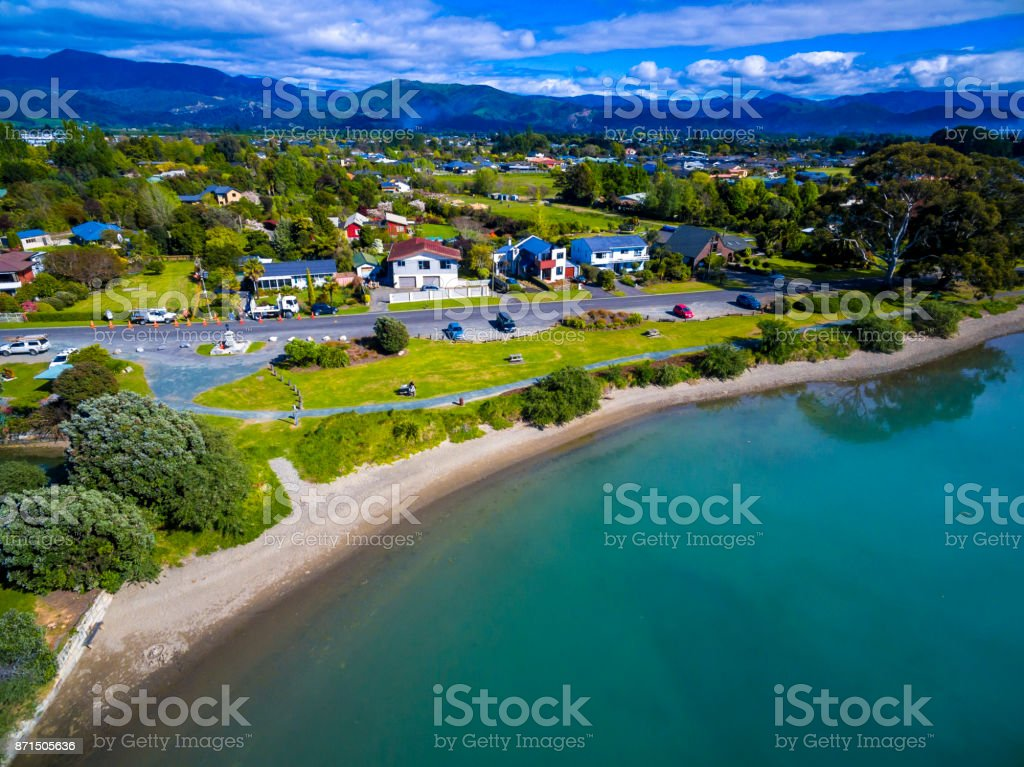 Motueka Beach stock photo