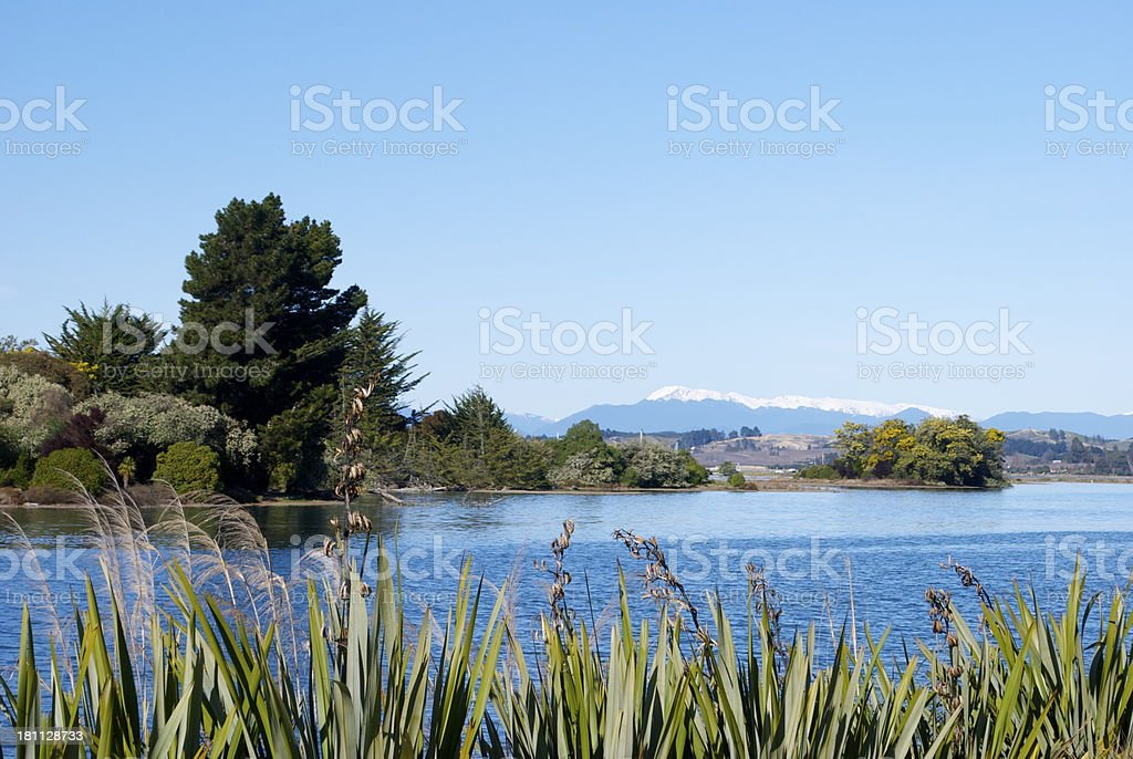 Motueka Estuary, The Inlet Walkway, Tasman, New Zealand stock photo