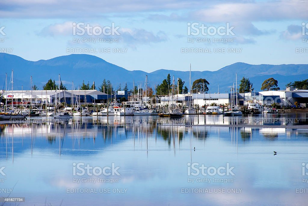 Motueka Marina, Tasman Region, New Zealand stock photo