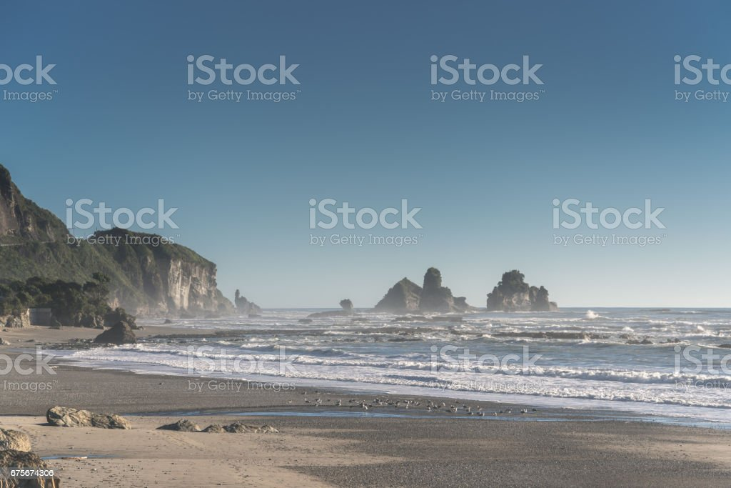 Motukiekie Beach royalty-free stock photo