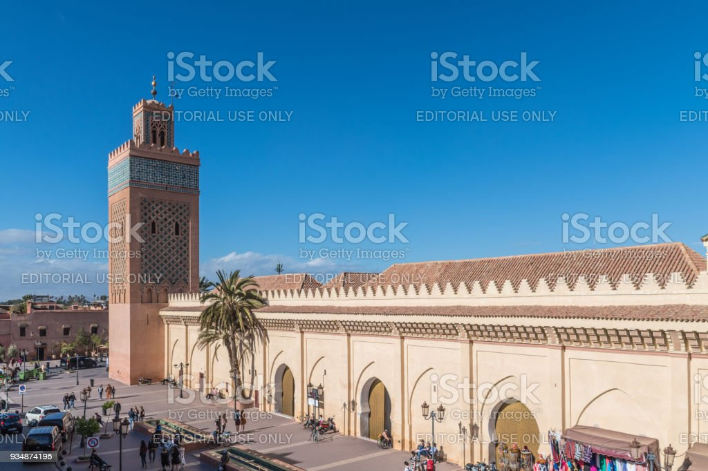 Moulay El Yazid Mosque in Marrakesh stock photo