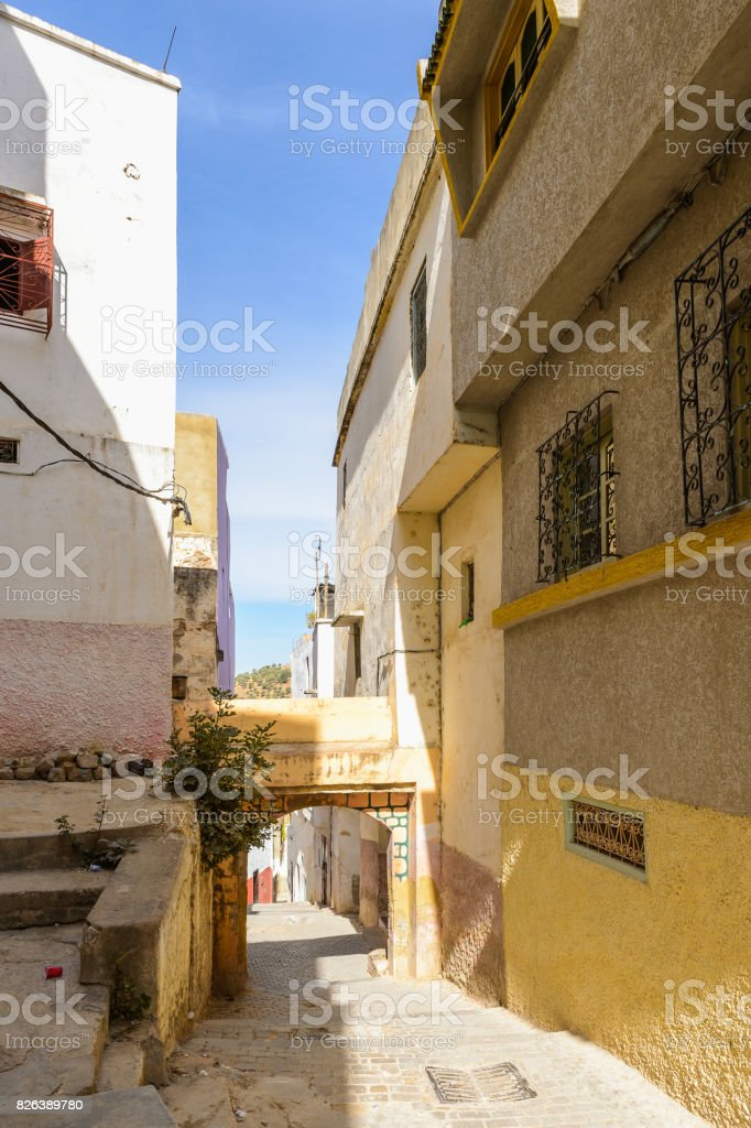 Moulay Idriss, the holy town in Morocco, named after Moulay Idriss I arrived in 789 bringing the religion of Islam stock photo