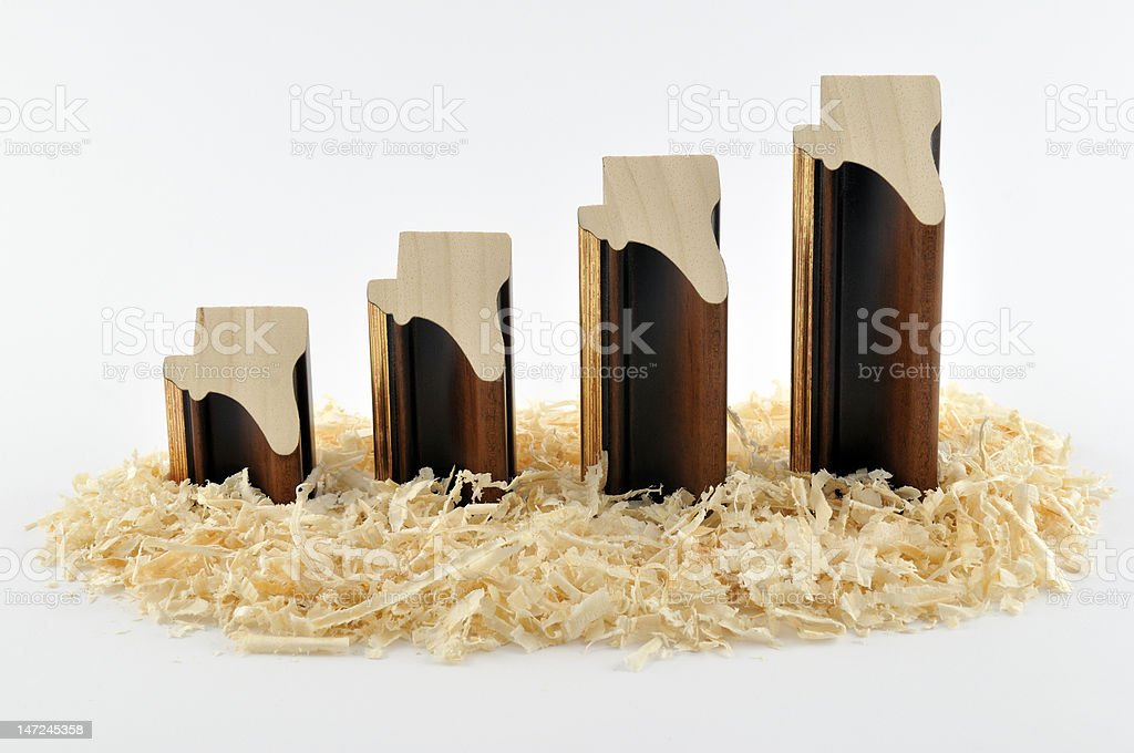 Mouldings diagram royalty-free stock photo