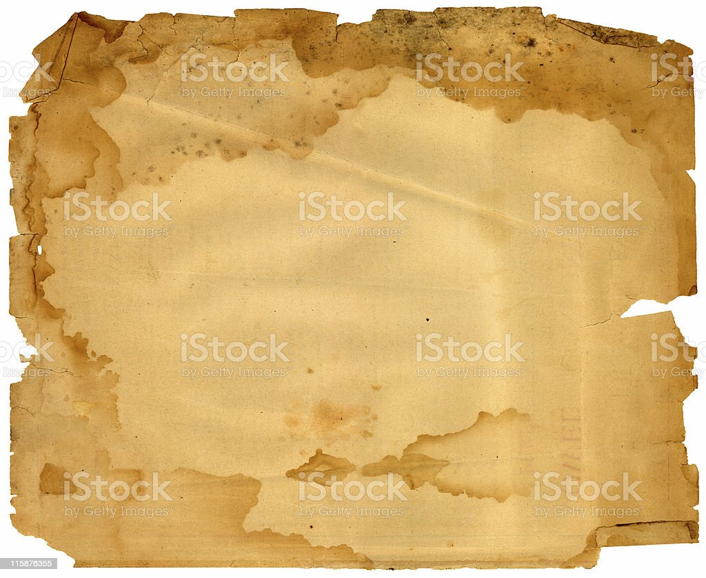 mouldy, stained paper texture royalty-free stock photo