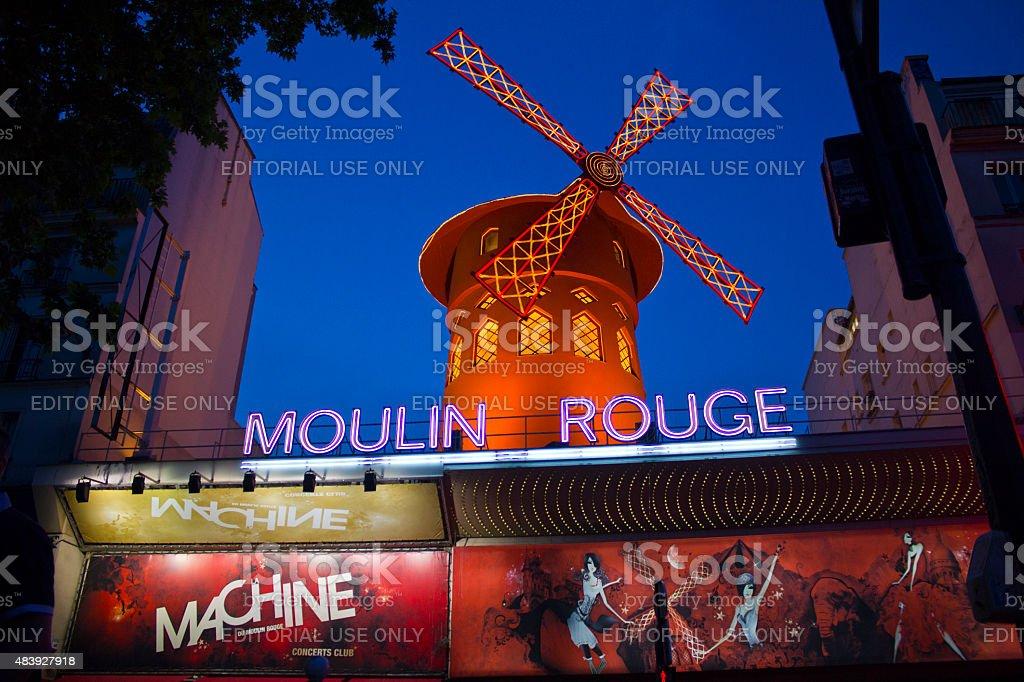Paris, France - May 6, 2011: Moulin Rouge, Paris stock photo