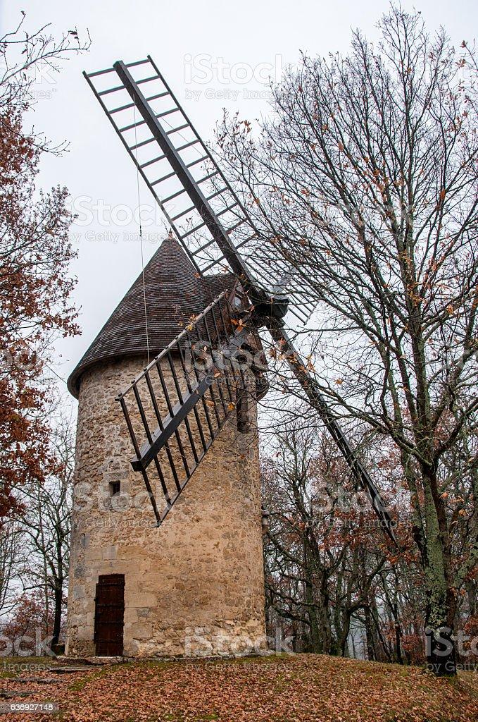 moulin à vent du Périgord stock photo