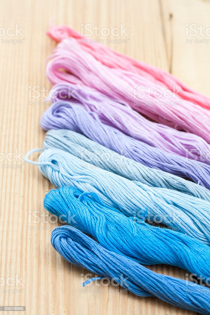 Mouline, embroidery thread royalty-free stock photo