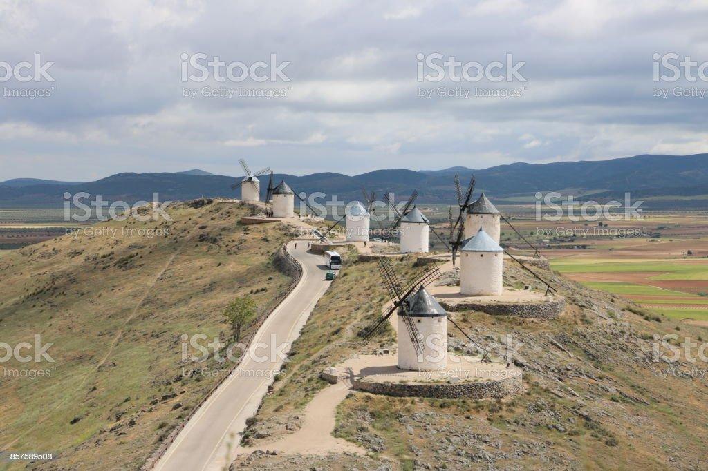 Moulins à vent stock photo