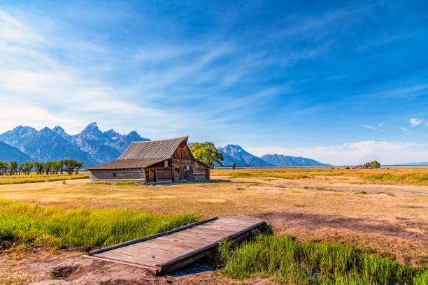 Moulton Barn at Grand Teton stock photo