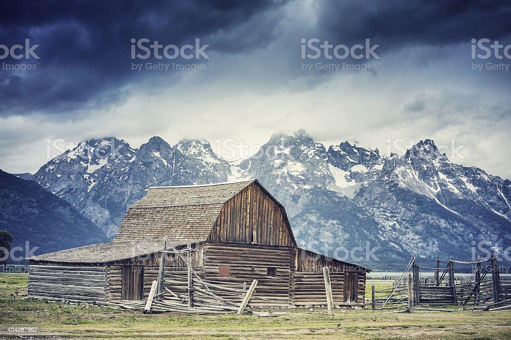 Moulton Barn royalty-free stock photo
