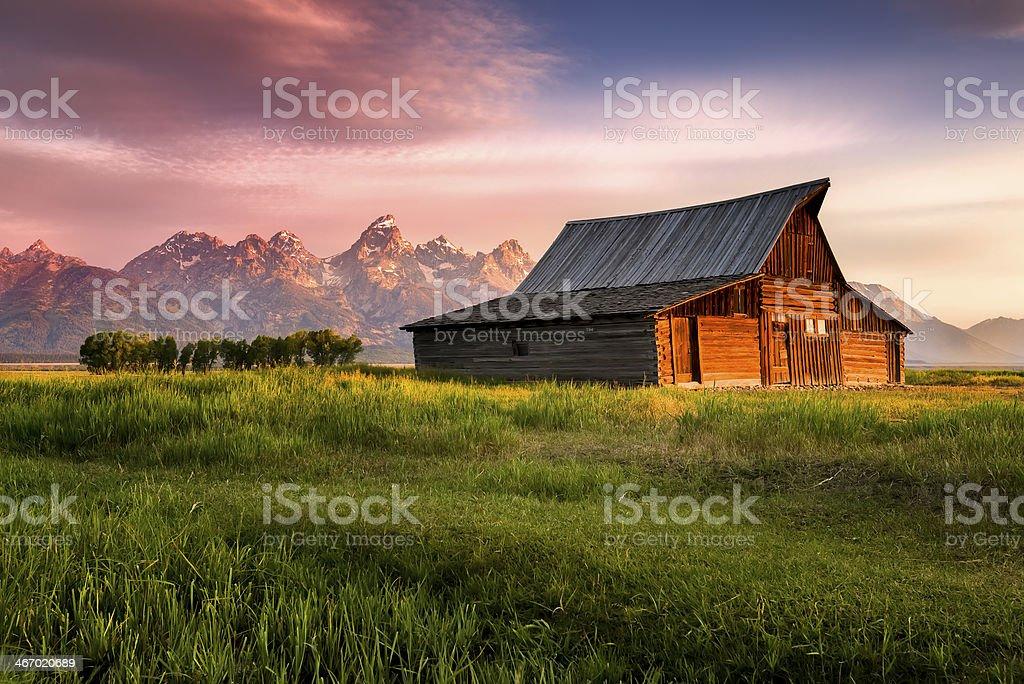 T. A. Moulton Barn stock photo
