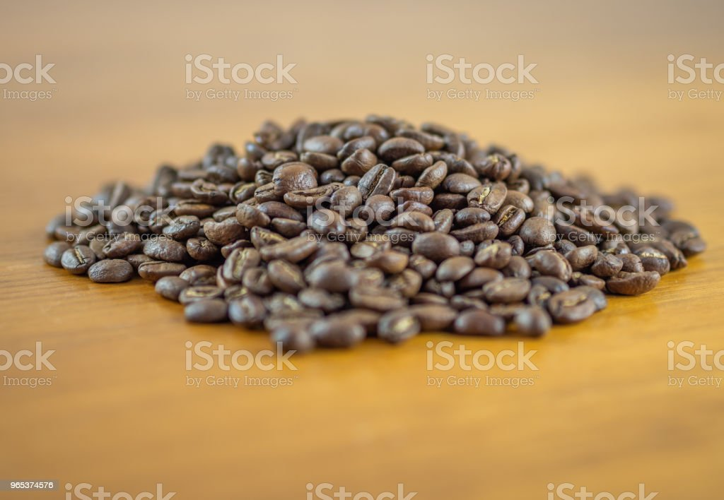 Mound of fresh whole coffee beans royalty-free stock photo