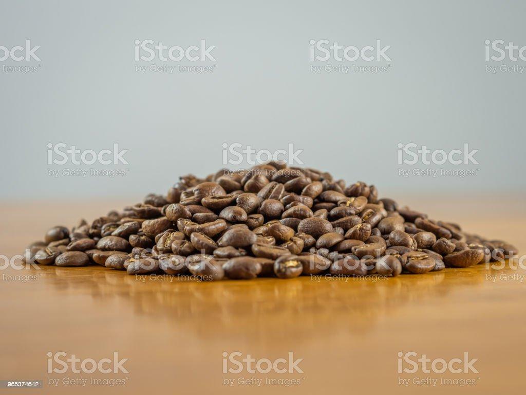 Mound of fresh whole coffee beans royalty-free stock photo