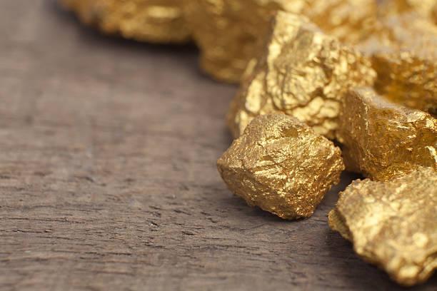 mound of gold stock photo