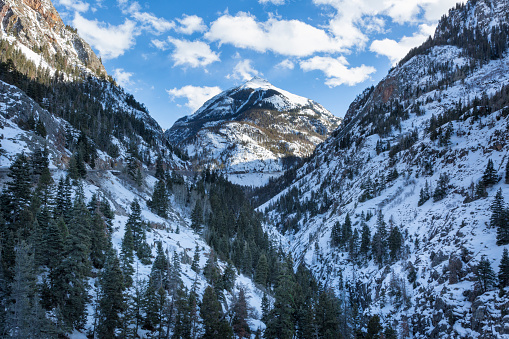 An icon of Ouray Colorado, Mount Abram, pictured here with a fresh coat of snow, is beautiful in all seasons! Ouray is called the
