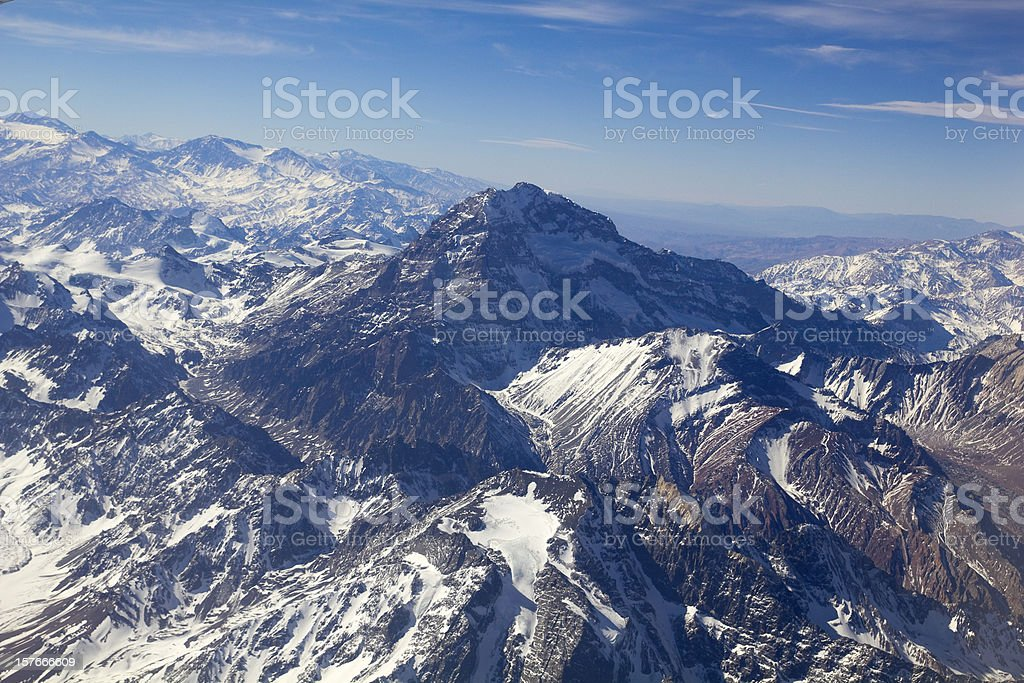 Mount Aconcagua, Argentina (highest pick in America continent) stock photo
