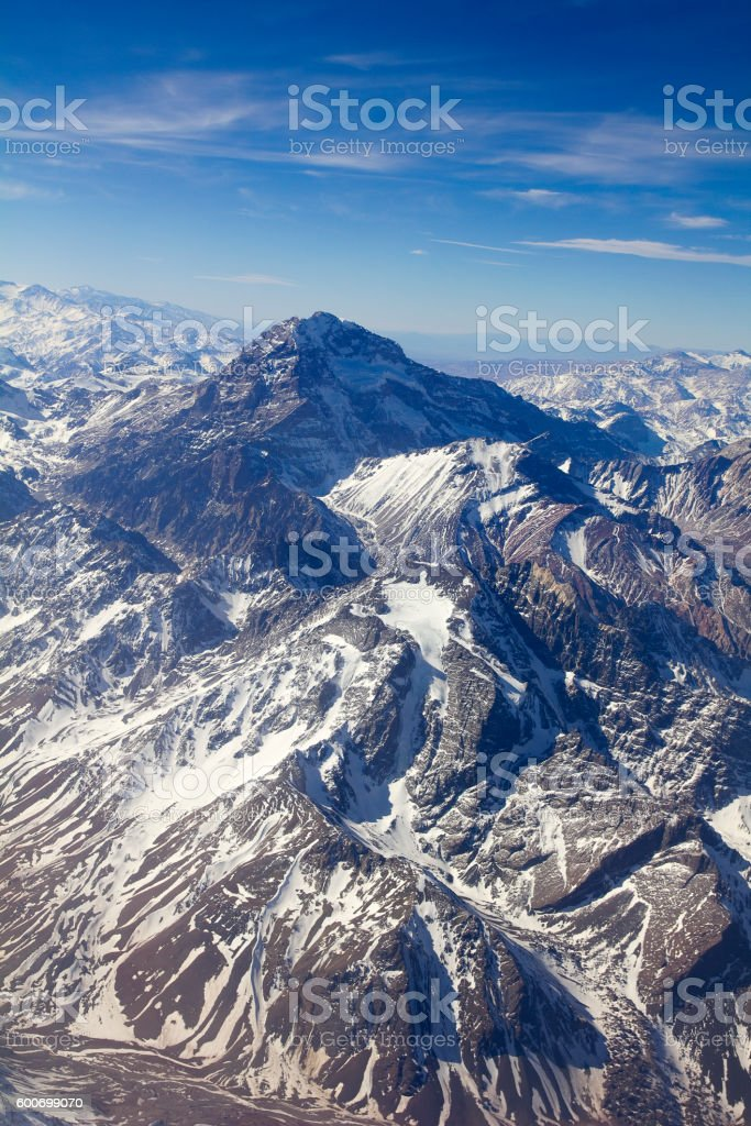 Mount Aconcagua, Argentina (highest pick in America continent) stock photo