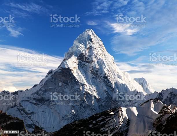 Photo of Mount Ama Dablam within clouds